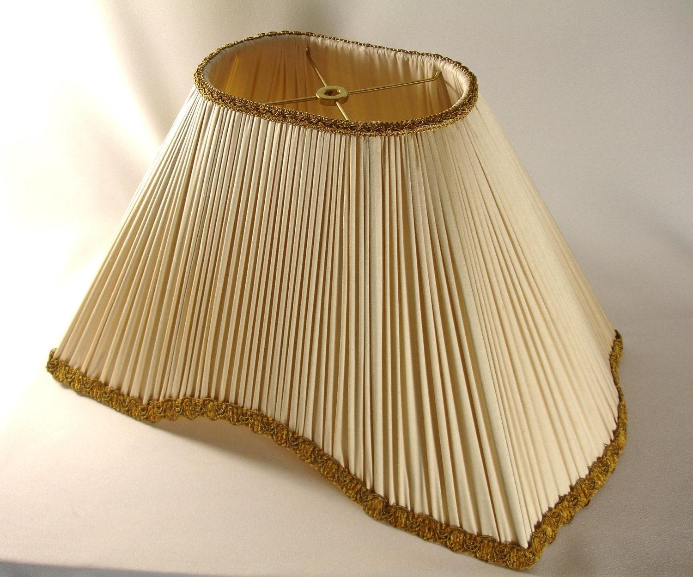 Lamp Shade Custom Pleated Ivory Silk Hand Made Ny
