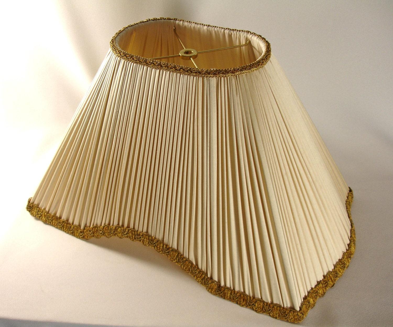 lamp shade custom pleated ivory silk hand made ny. Black Bedroom Furniture Sets. Home Design Ideas