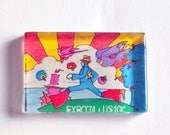 Peter Max postage stamp magnet - set of 2
