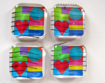 Love stamp magnets