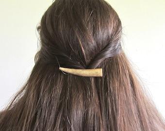 Hair Barrette Clip Deer -ALBA- Antler Horn Natural Hair Accessories