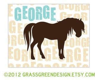 Custom Horse Silhouette Print 8x10
