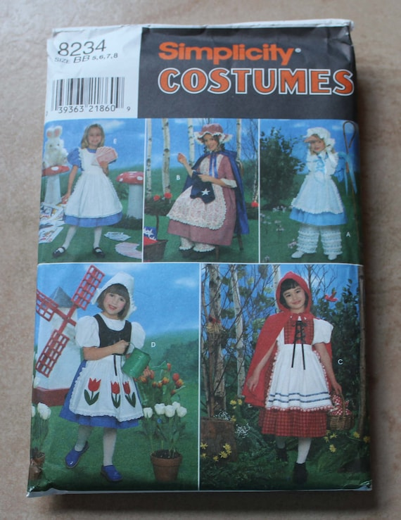 Simplicity Costumes 8234 - Child Size BB (5, 6, 7, 8)