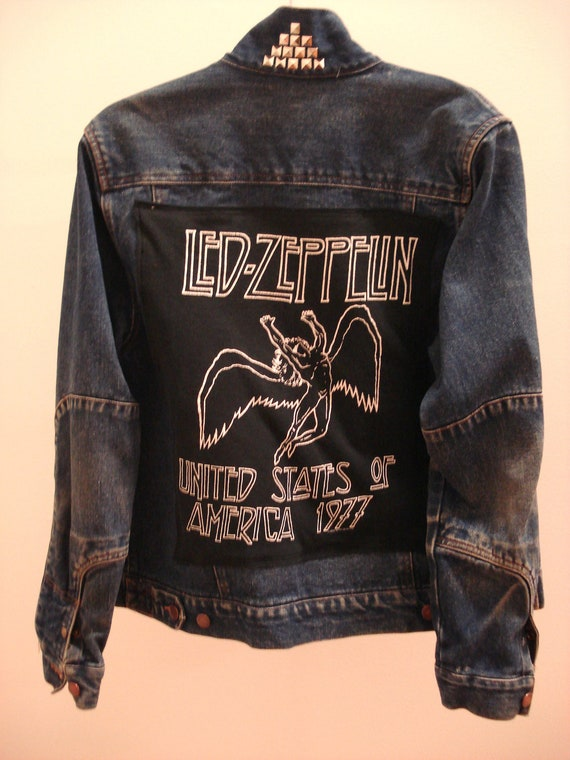 Recycled Vintage Led Zeppelin Jacket