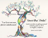 Original Love Tree SAVE THE DATE cards