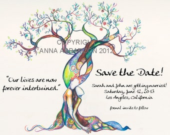 Original Love Tree SAVE THE DATE cards
