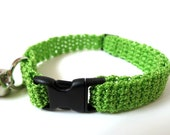 Adjustable Cat Collar Lime with Bell