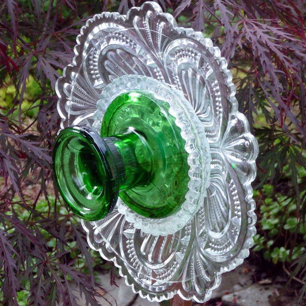 Art For The Garden: Garden Art Glass Flower Suncatcher Plant Stake Yard