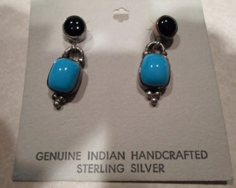American Indian Handcrafted Sterling Silver Earrings