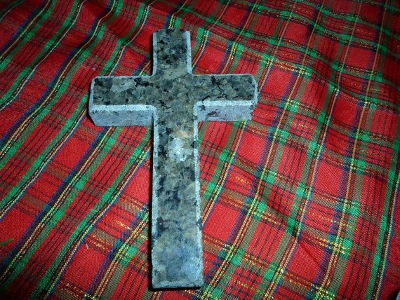 Granite Cross Vintage Hand Cut