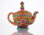 """Clay Mosaic Ceramic Teapot, """"The Lovely Lady"""""""