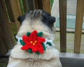Christmas Holly Poinsettia Neck Warmer for Dogs and Cats - Made To Order