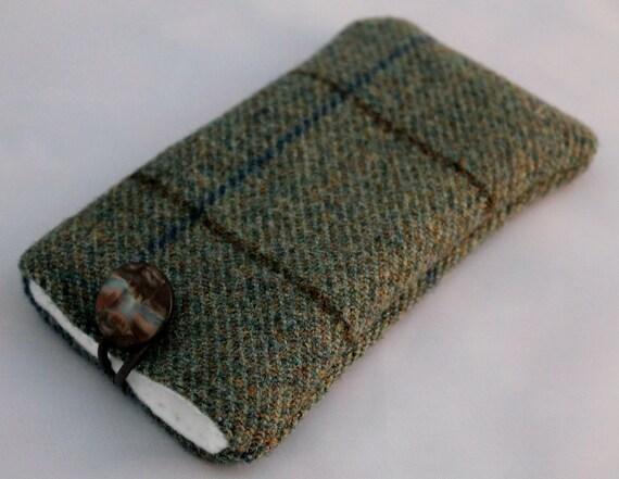 Blue Tartan Tweed Phone Cover