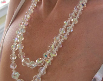 Double Strand Glass Crystal Necklace for your Wedding Day