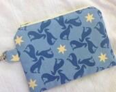 Blue Greyhound Small Zippered Pouch
