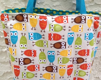 Bermuda Owls Reversible Canvas Tote Bag