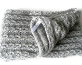 gray infinity Scarf . crochet women scarf, loop scarves,gray cowl , circle scarf ,fashion accsessory ,gift ideas, fall winter, long scarf