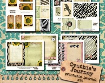 Printable Hybrid Journal Kit 5x7 - Cynthia's Journey
