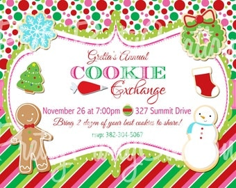 COOKIE EXCHANGE invitation - You Print