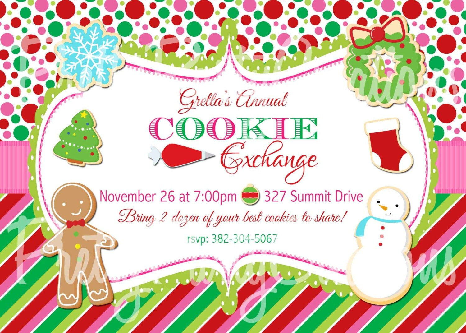 Printable Cookie Exchange Invitations is best invitation design