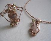Redline Marble and Copper Bracelet and Necklace Set