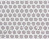 Dots in Grey, Mod Basics, Birch Fabrics, 100% Certified Organic Cotton