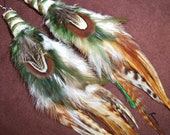 Feather Earrings- Dancing With the Trees- Long Feather Earrings- Made to Order