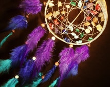 Top Seller* Dream Catcher- Chakra Love- Devils Claw Dream Catcher- Beautiful Feather Work- Made to Order