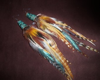 Top Seller* Feather Earrings- On The Road- Long Feather Earrings- Made to Order