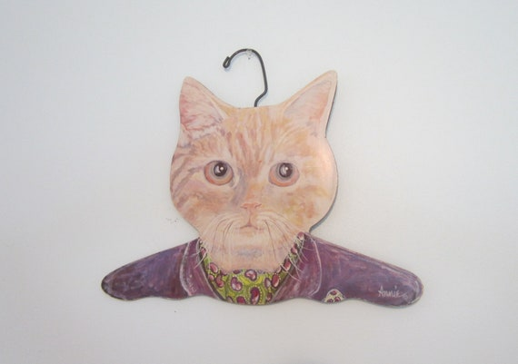 Handmade Kitty Cat Hanger Hip Kitschy Closet Decor Stupell