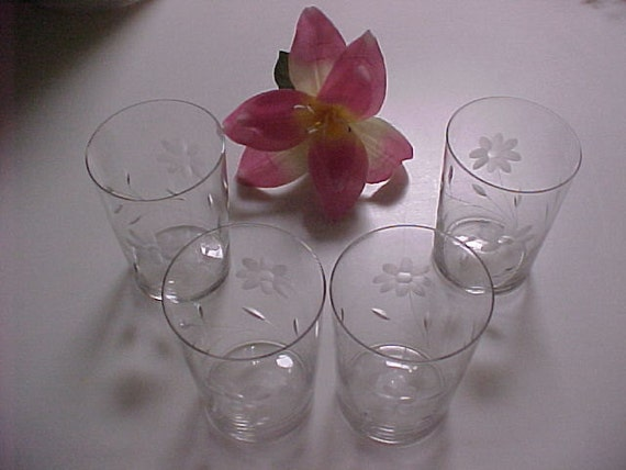 Vintage Tiffin Water Glasses Cut 356 Early 1900s