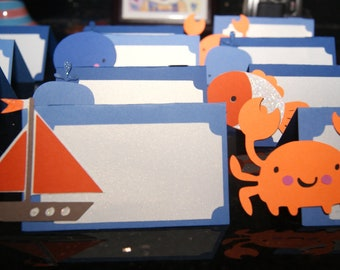 Under the Sea Creature and Sailboat Place Cards / Food Labels