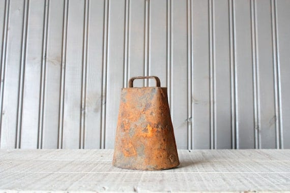 Rustic Cow Bell // Salvage Decor
