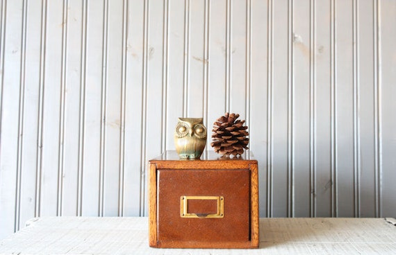 RESERVED // Oak Card Catalog // Single Drawer Library File Cabinet