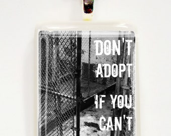 Don't adopt if you can't commit Game Tile Pendant