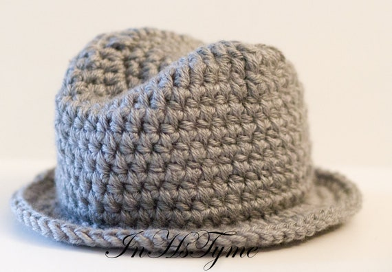 Crochet Baby Fedora Hat 03 and 36 Months Photography by ...