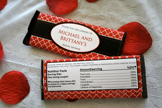 Chocolate Bar Wrapper Red