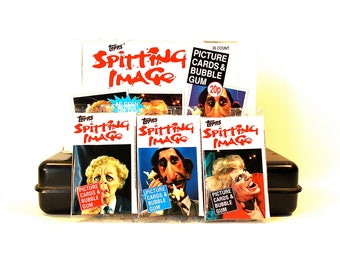3 Spitting Image Trading Card Packs by Topps