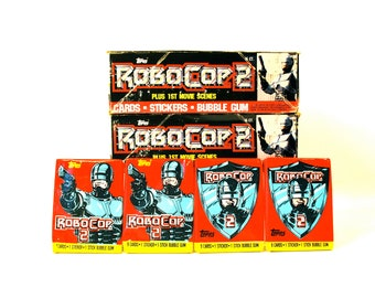 4 RoboCop Trading Card and Sticker Packs by Topps