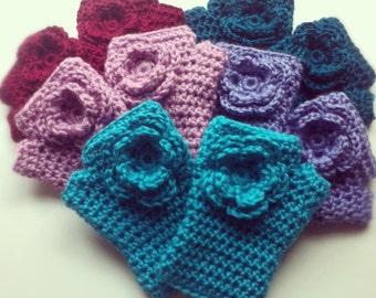 Crochet hand warmers