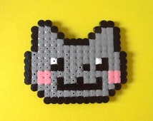 Nyan Cat kitty hama perler bead accessory, decoration, gift - GEEK CHIC COOL