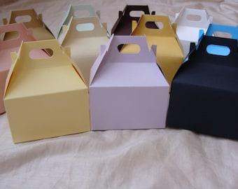 Gable Favor Boxes 10 pcs ....Birthday/Showers/Graduation/Wedding/ Bachelorette, party