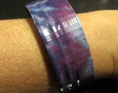 Blue, Pink & Purple Tie-Dye Duct Tape Soup Can Bangle Bracelet