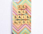 iPhone Case: Je Ne Sais Quoi. White Case. Scrabble. French Word Dice. Chevron. Zig Zag. iPhone 4/4S Case. iPhone 5 Case. READY-TO-Ship