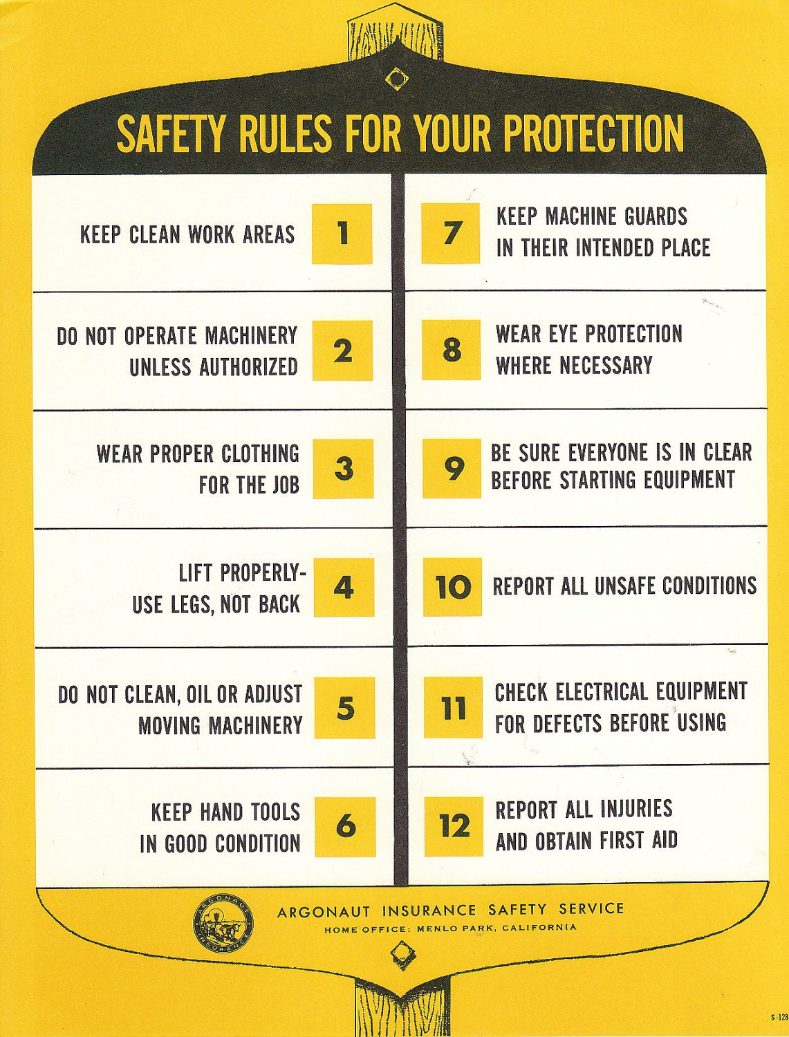 safety rules for metal work