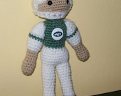 Crocheted  NY Jets  Doll -  Amigurumi - ready to ship