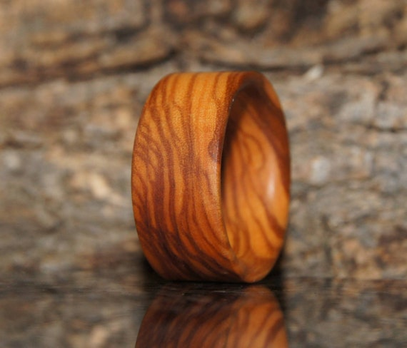 Wood Ring Size 7  3/4  Olive wood ring