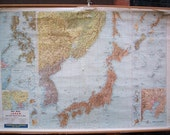 War Map of Japan and Other Strategic Pacific Areas - Vintage Wall Map