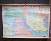 Stanford's General Map of the Middle East - Vintage Wall Map
