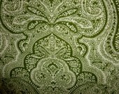 Beautiful Green & Creme Cotton Fabric 22 inches